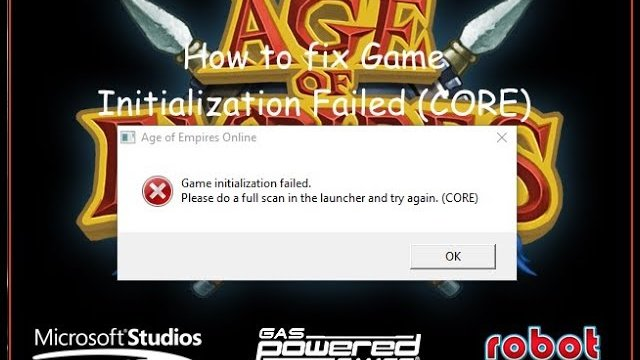 "How to fix ""Game Initialization Failed (CORE)"""